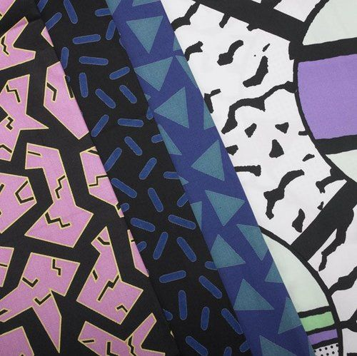 Memphis fabrics by Sottsass and du Pasquier