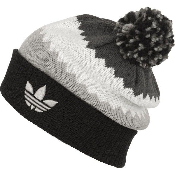 adidas Roads Ballie Pom Beanie ( 24) ❤ liked on Polyvore featuring  accessories 0a3ed02cd7c