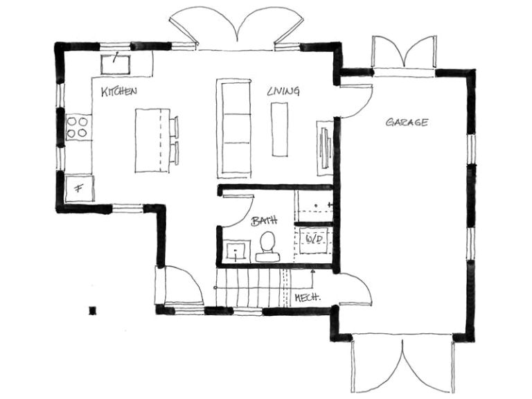 The Arbutus A Laneway House With Two Bedrooms And Two Full Baths In Just 750 Sq Ft Www Facebook Tiny House Floor Plans Small Floor Plans Small House Layout