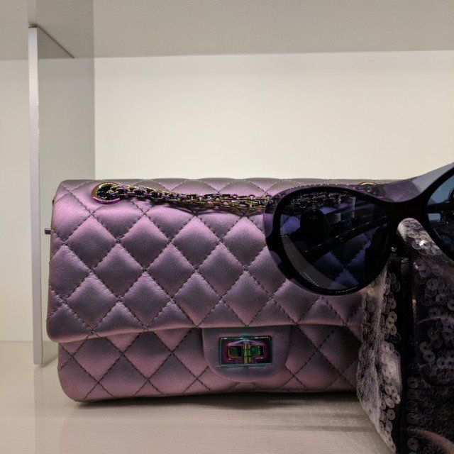 869bfdb86b BNIB Chanel Iridescent Purple Rainbow 2.55 Reissue Bag