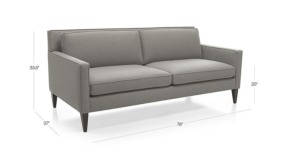 Wonderful Rochelle Apartment Sofa Audra: Smoke | Crate And Barrel