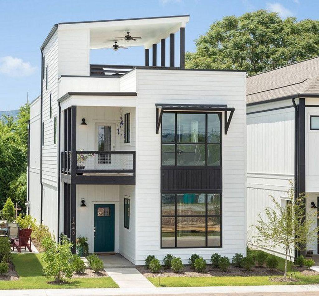 Small Modern Home Exteriors: 40+ Stunning Farmhouse Exterior Design Ideas