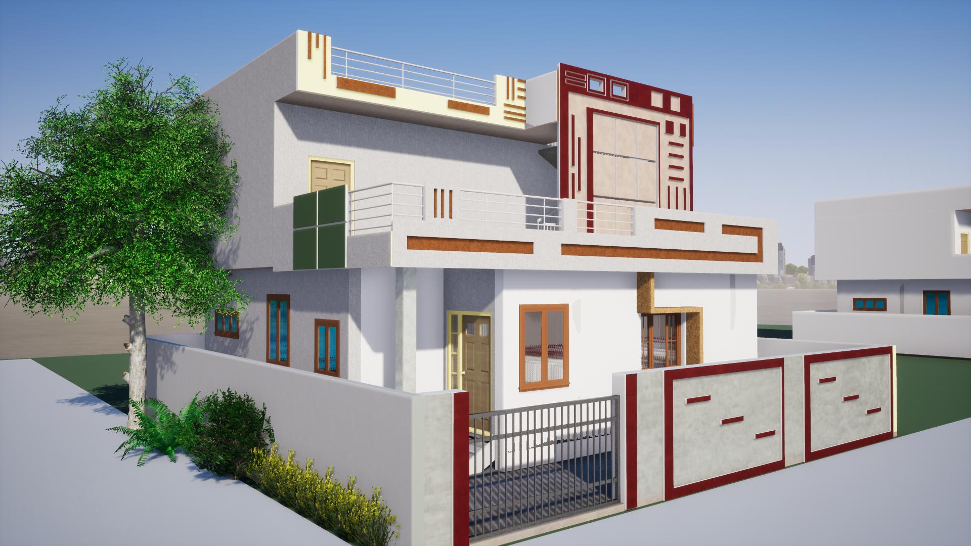 New Elevation Design I Designed Using Revit Software House Styles House Design House