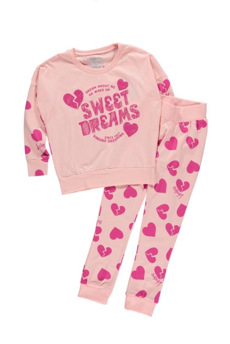 412e07cfd0b Vingino pyjama voor meisjes Willemijn, rose   Kinderpyjama's ...
