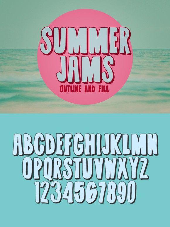 Summer Jams. Display Fonts. $9.00