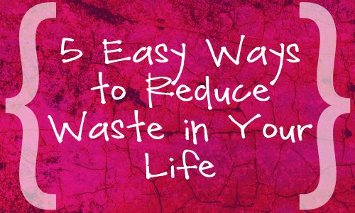 5 Easy Ways to Reduce Waste in Your Life.     www.TampaBayRentalSolutions.com
