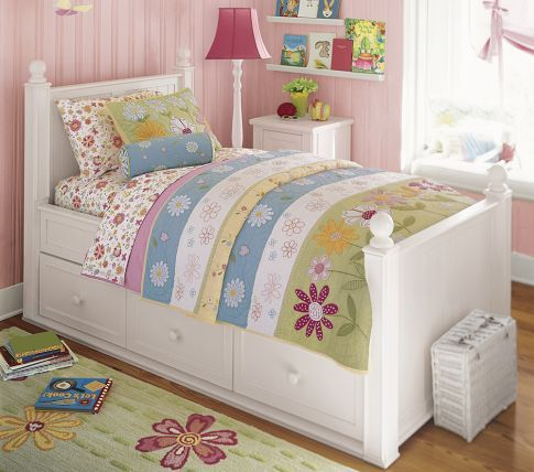 Quilted Bedding Pottery Barn Kids, Daisy Garden Quilted Bedding Pottery Barn