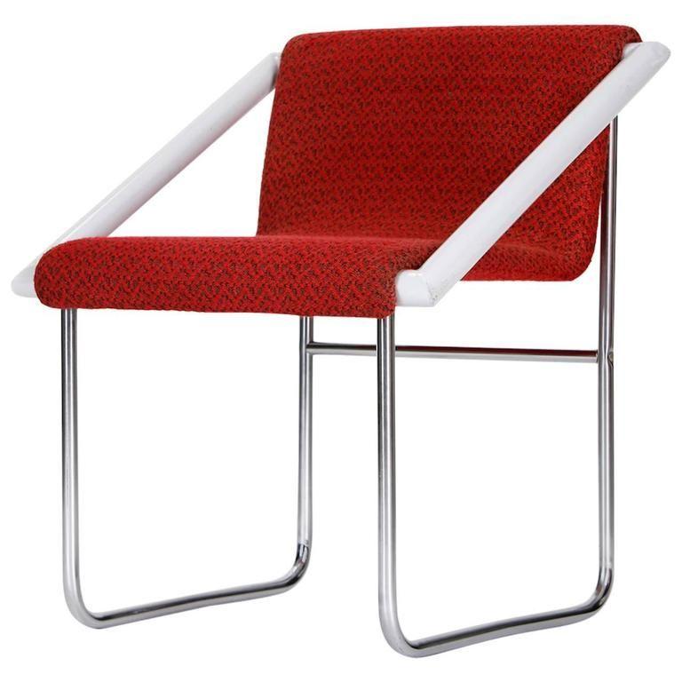 Czech Tubular Steel Ladies Chair, 1960 Tubular steel