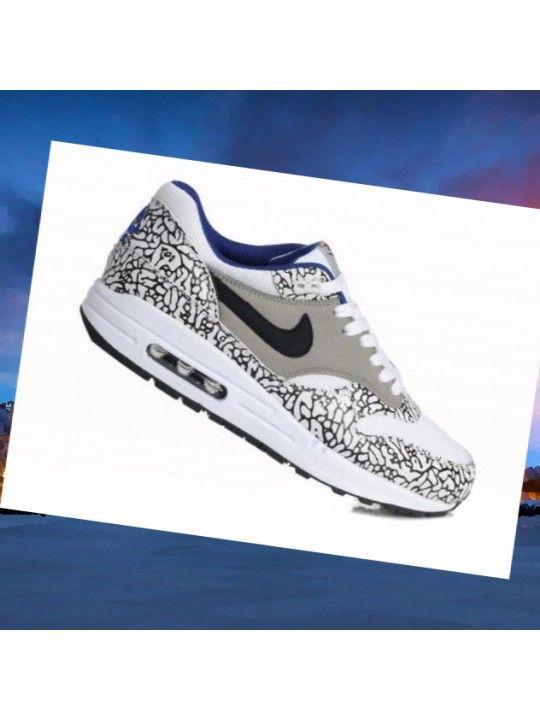 baskets pour pas cher eabb9 883f6 Air Max 1 Safari Leopard pack Blanc Gris Bleu Noir Nike ...