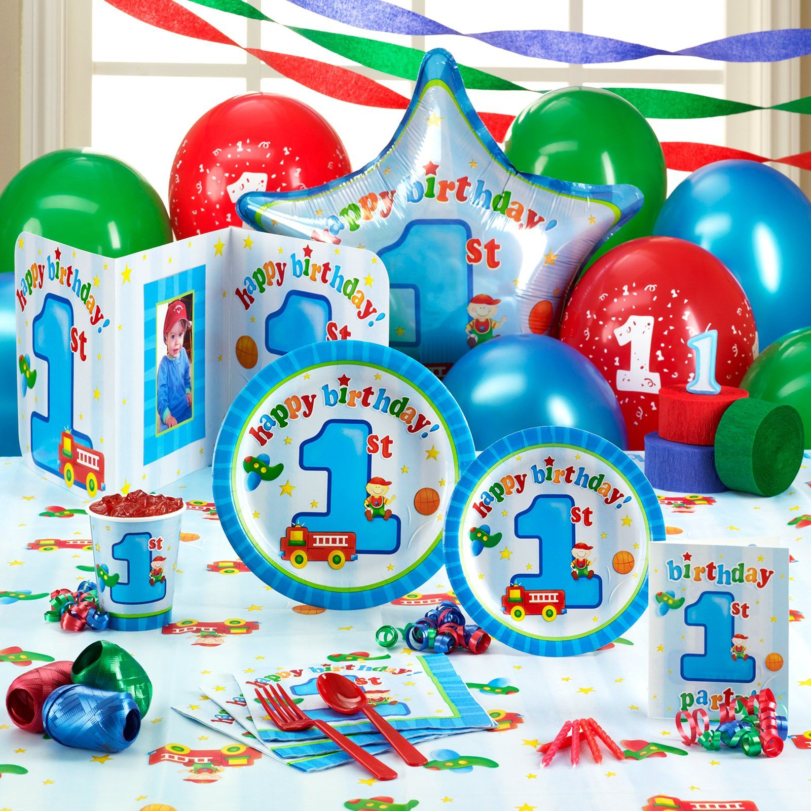cb4b2f858d1 Boys Playtime 1st Birthday Party Supplies