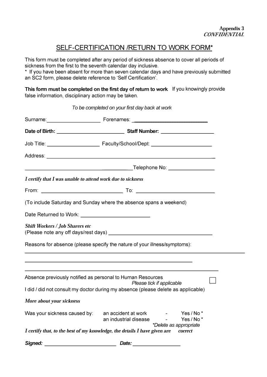 Tattoo Release Form
