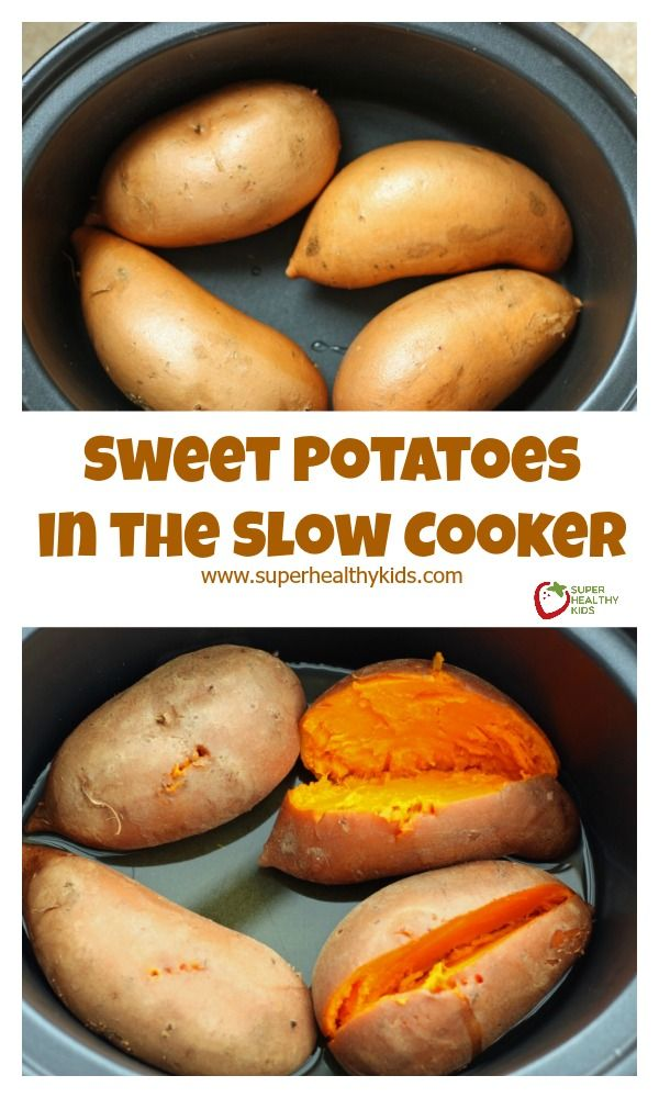 FOOD - Sweet Potatoes in the Slow Cooker - 4 great benefits, 1 easy…