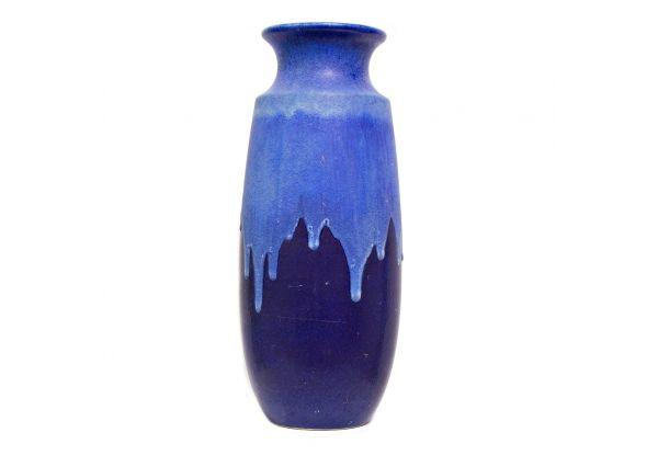 West German Vase Gorgeous Blue West German Vase With Lava Type