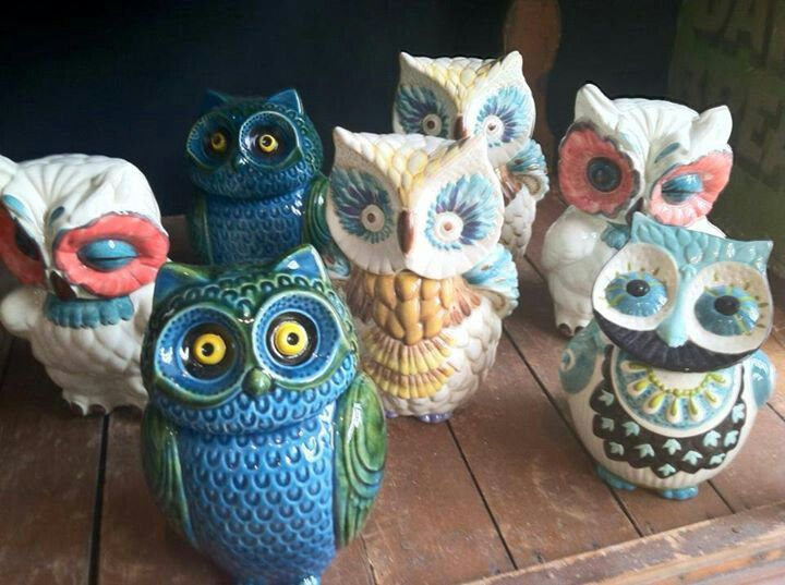 these are all of the anthro cookie jars. | for the love of owls ...