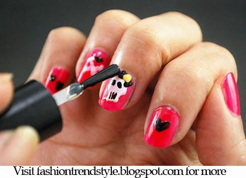 Halloween DIY Easy Nail Design Video Tutorial - follow FYB for more tips!!