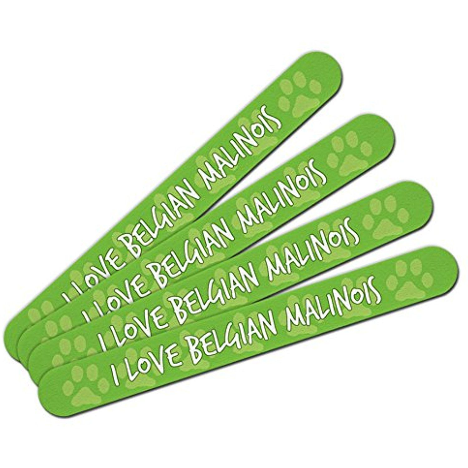 Double-Sided Nail File Emery Board Set 4 Pack I Love Heart Dogs A-C ...