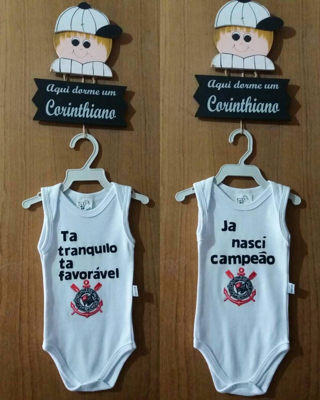 body personalizado de bebe do corinthians com patch aplique  069af227064
