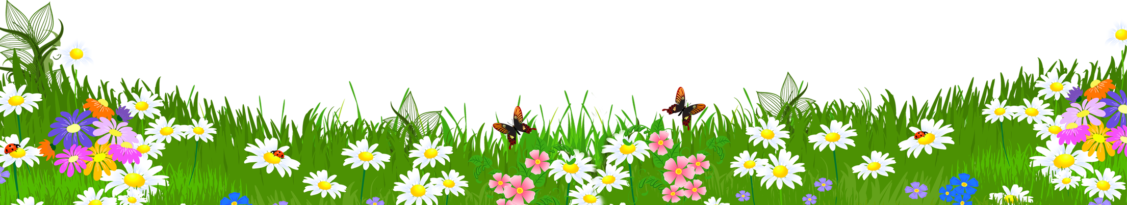 Grass ground with flowers png clipart crafts sewing for Grass flower