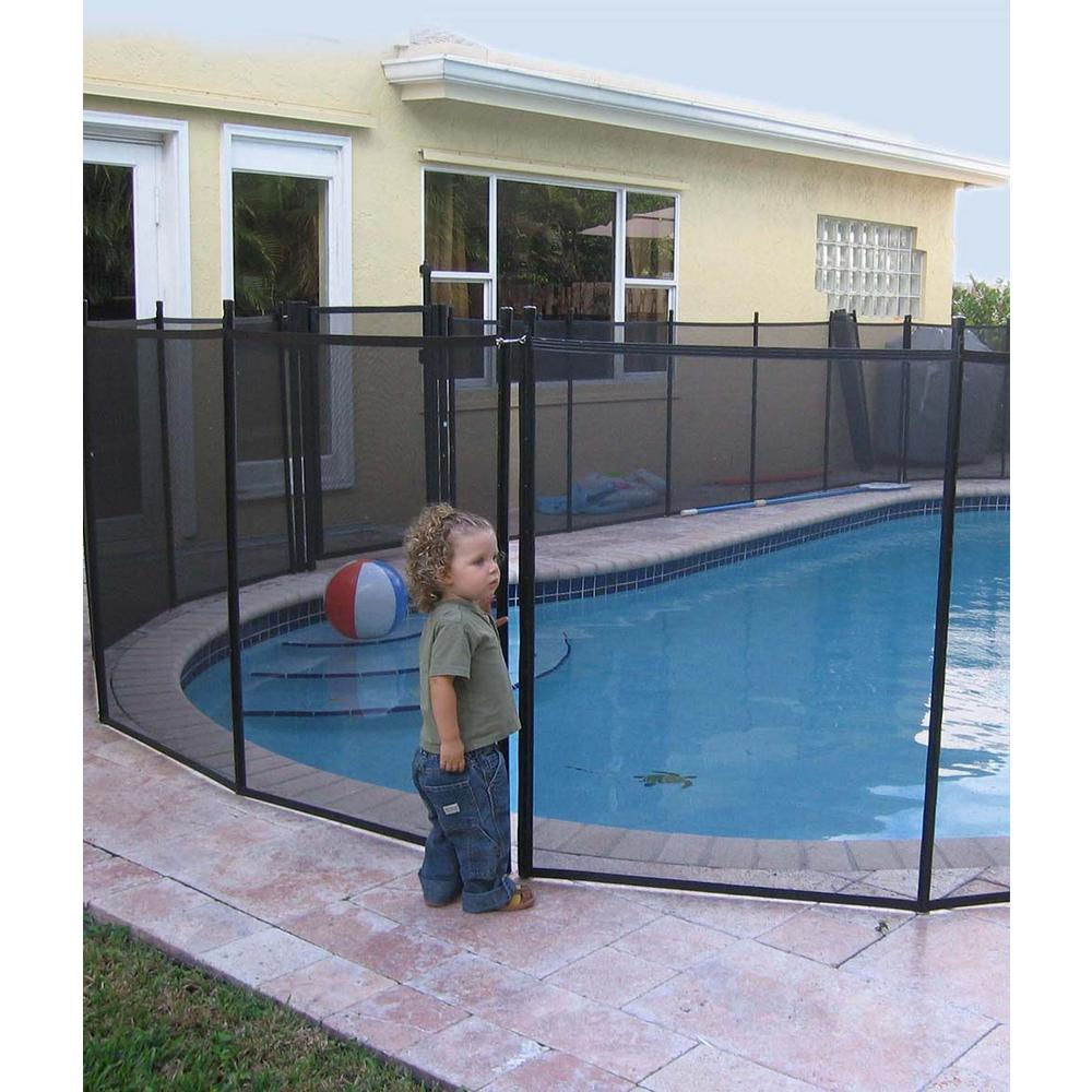 Waterwarden In Ground Pool Fence Wwf300 The Home Depot Pool Safety Fence Pool Safety Swimming Pool Safety