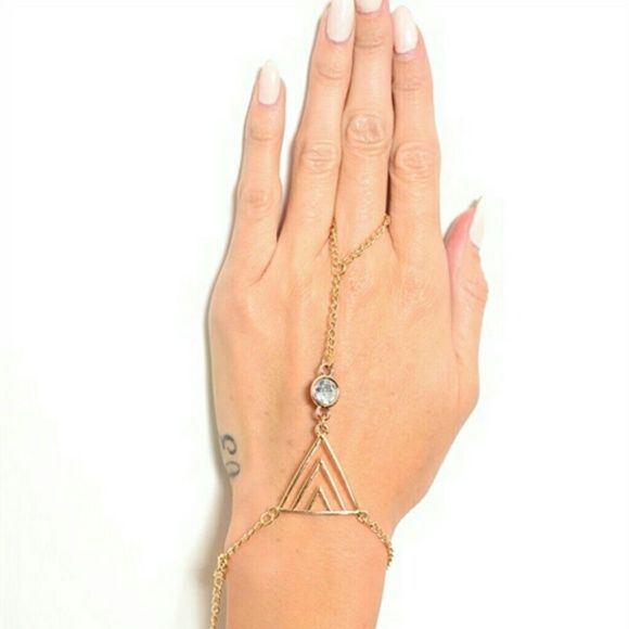 Hand Candy (crystal) Delicate hand chain with crystal colored stone.  *30% bundle discount! *Price Firm Jewelry