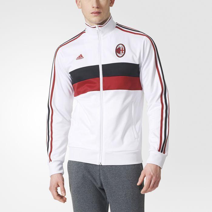 17bbd50a1c AC Milan 3-Stripes Track Jacket | Products | Jackets, Adidas men, Adidas