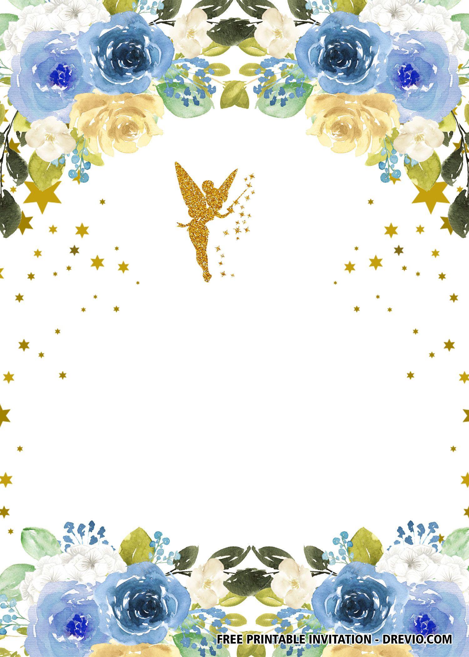 Free Fairy Invitation Templates Fairy Invitations Tinkerbell Invitations Birthday Party Invitations Free