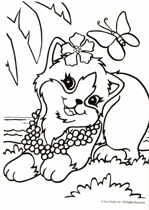 Quatang Gallery- Kleurplaat Poes Met Bloemenketting Animal Coloring Pages Princess Coloring Pages Free Coloring Pages