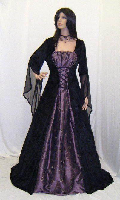 mittelalterliche Handfasting Kleid Renaissance heidnischer wiccan Hochzeit brauch