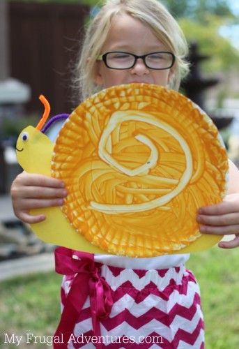 Snail paper plate craft ~ Simple summer kids craft