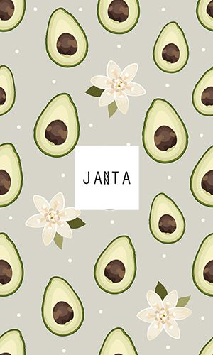 Seamless pattern sliced avocado with flower on gray