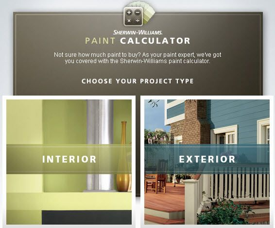 We Recommend The Sherwin Williams Paint Calculator Paint