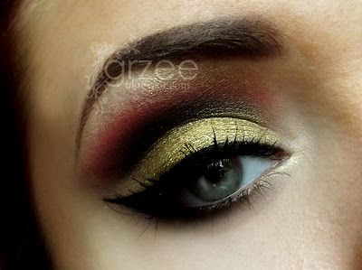 Definetly my style/sig colors of eye makeup, but with my blonde eyebrows I don't know how well dark on top would turn out