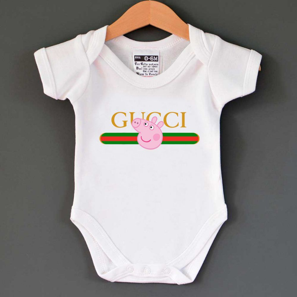 15d82317a45e Gucci x Peppa Pig Pecs Belt Logo Baby Onesie $ 13.00 #Tee #Hype #Outfits  #Outfit #Hypebeast #fashion #shirt #Tees #Tops #Teen