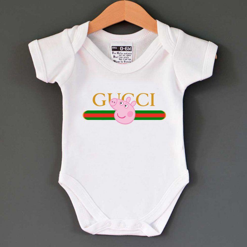 36844b5d5fd Gucci x Peppa Pig Pecs Belt Logo Baby Onesie   13.00  Tee  Hype  Outfits   Outfit  Hypebeast  fashion  shirt  Tees  Tops  Teen