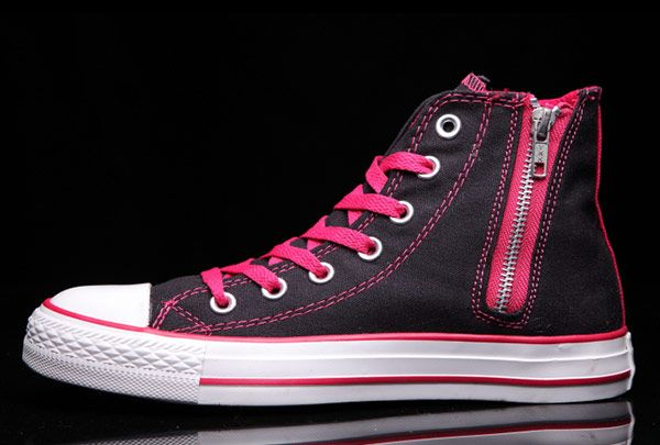 ... sweden converse chuck taylor all star zip women high tops pink black  converse shoes chunktaylor pinterest 5e24848be