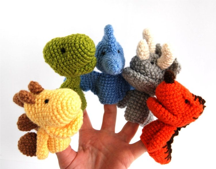 crochet finger puppets | Marioneta, Tejido y Apliques