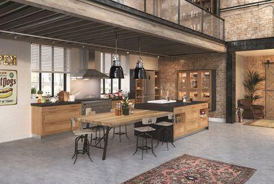 Cuisine pullman gamme maison de famille disponible en 5 coloris fa ades cadre droit - Cuisine maison de famille ...