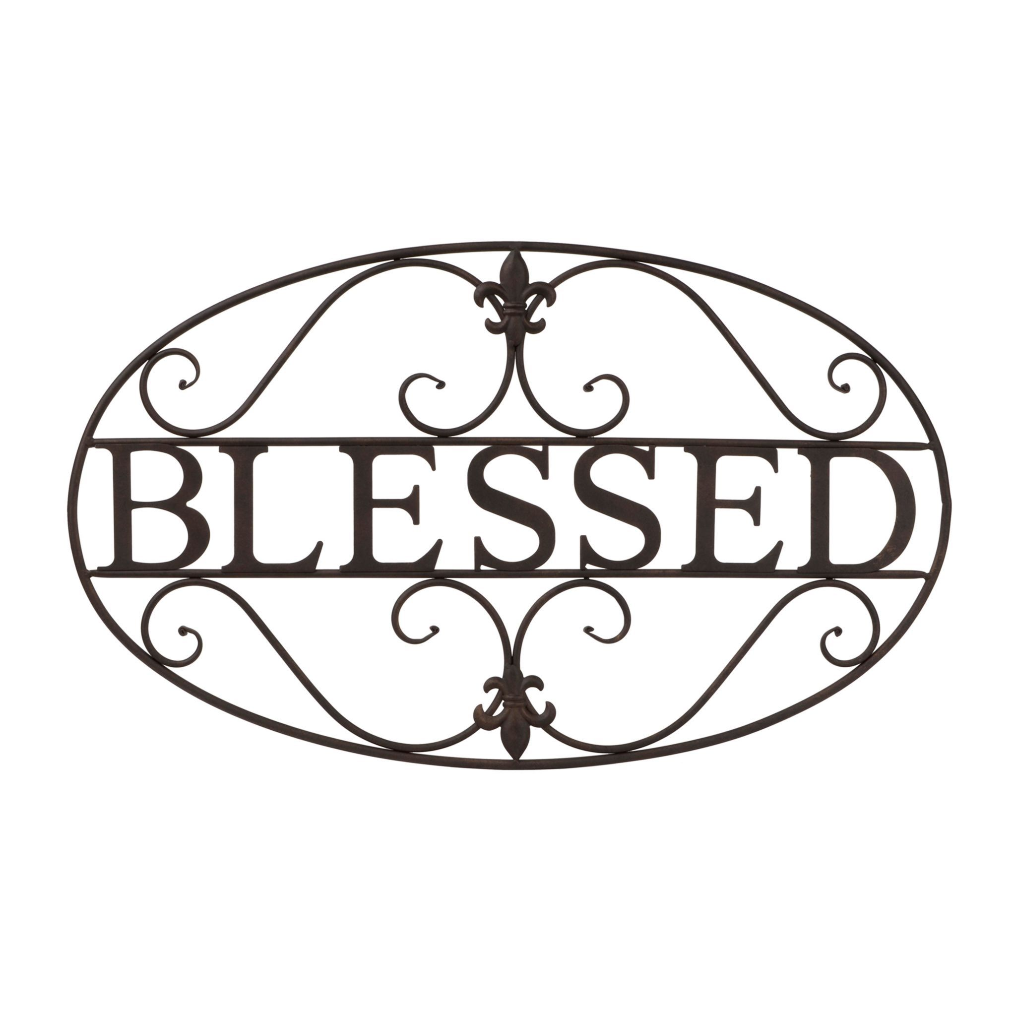 Product Details Fleur De Lis Blessed Metal Plaque