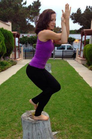 garudasana in the garden from los angeles ca » yoga pose