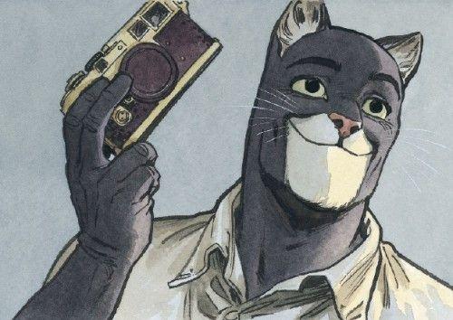 #Blacksad Miaou! On en miaulerait de plaisir! Blacksad, l'incomparable polar dessiné de l'espagnol,Juanjo Guarnido et Juan Diaz Canales, et son héros détective à tête de chat noir, sont de retour. Un retour espéré par les nombreux fans depuis maintenant plus de trois ans. Car le privé aux airs de félin ne compte plus le nombre de ses aficionados sur Facebook et ailleurs. Beau mec (ou plutôt beau mâle?),