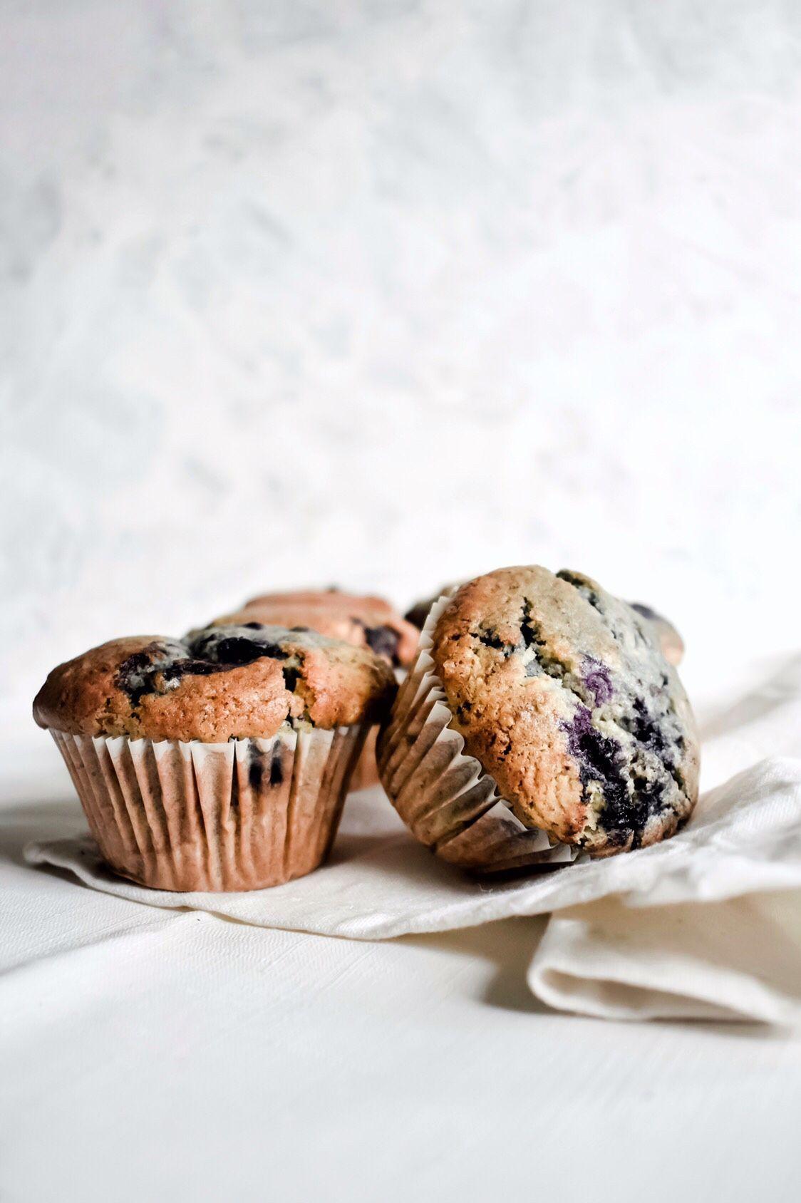 Bakery Style Blueberry Muffins Vegan Eggless
