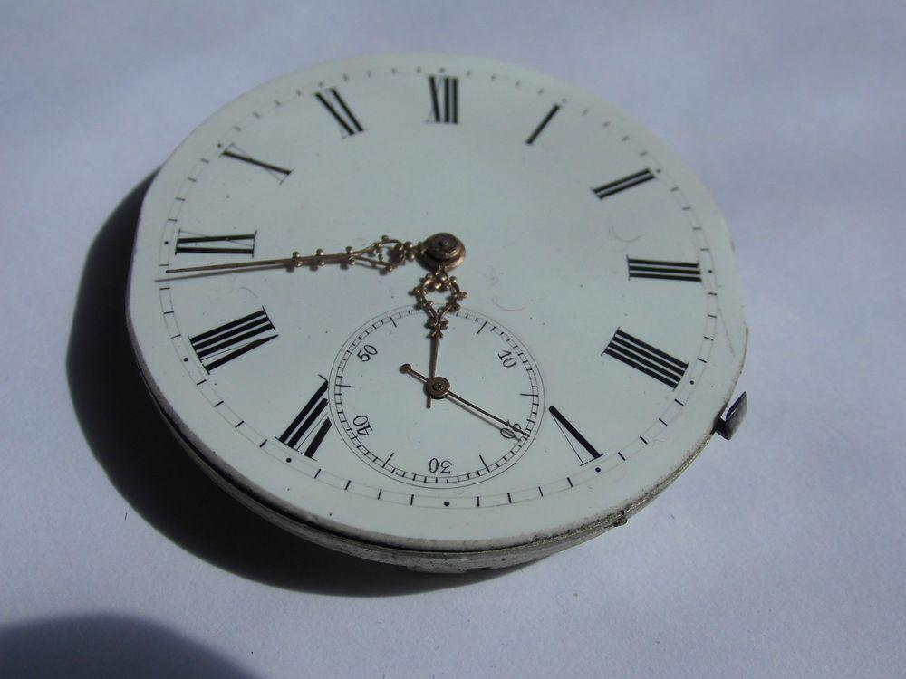 Sehr schoenes Antikes Uhrwerk..LOOK!! aus Goldschmelze an Bastler TAU