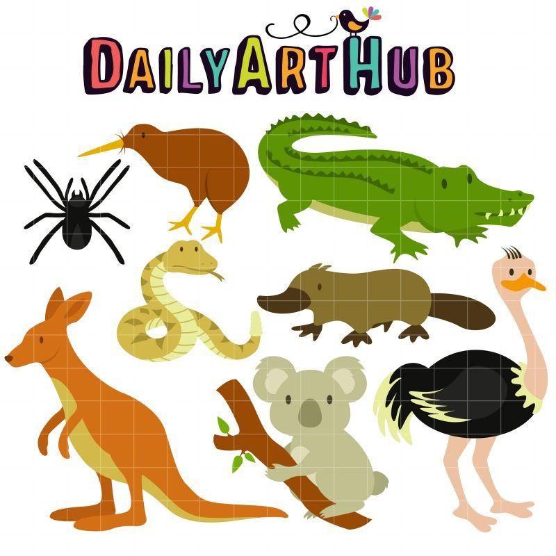 Aussie animals clip art set daily art hub free clip