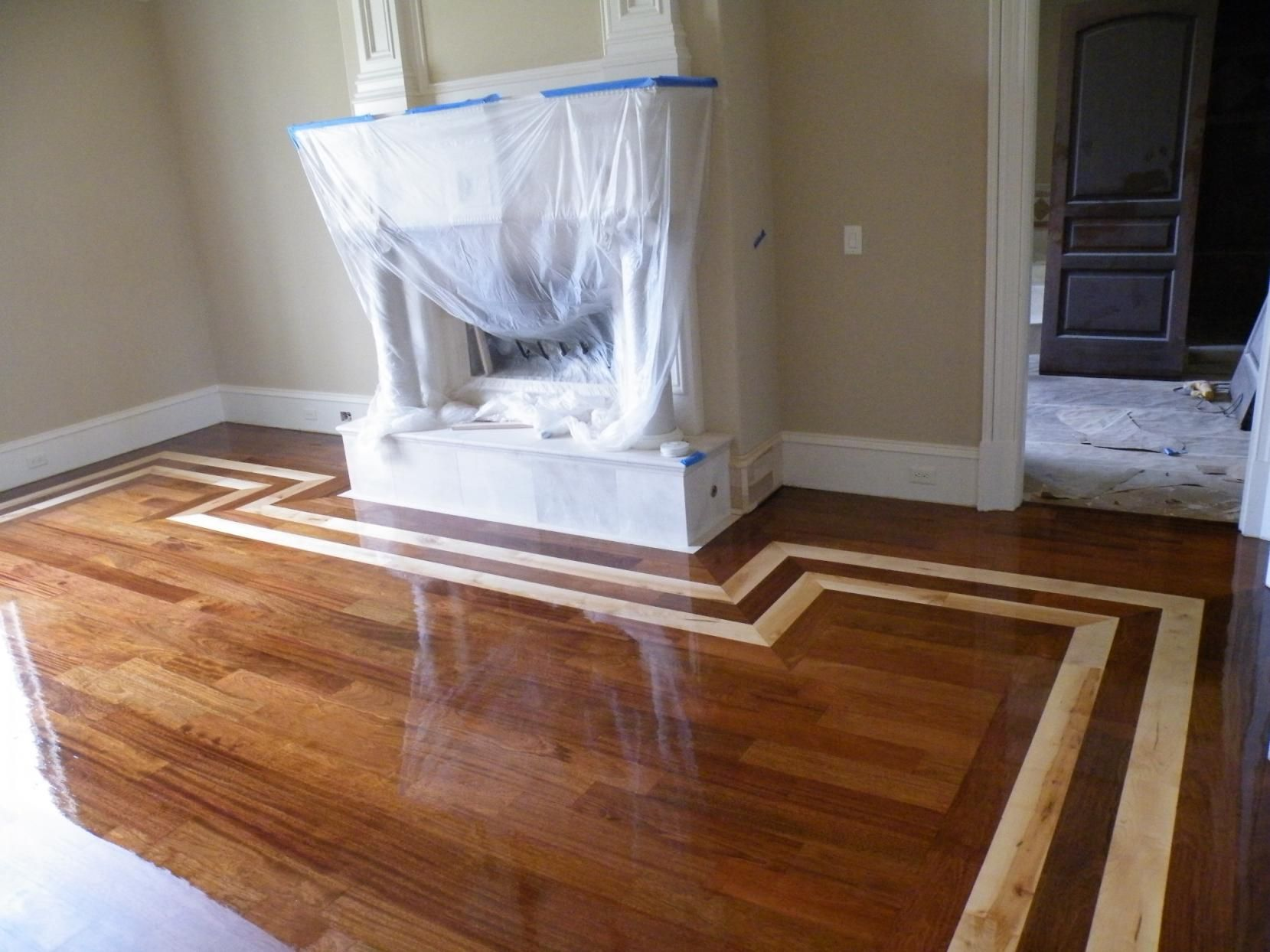 Hardwood Floor Designs id1 m21 parquet and b6 border Fine Faux Hardwood Flooring On Floor With Out The Old Carpet And