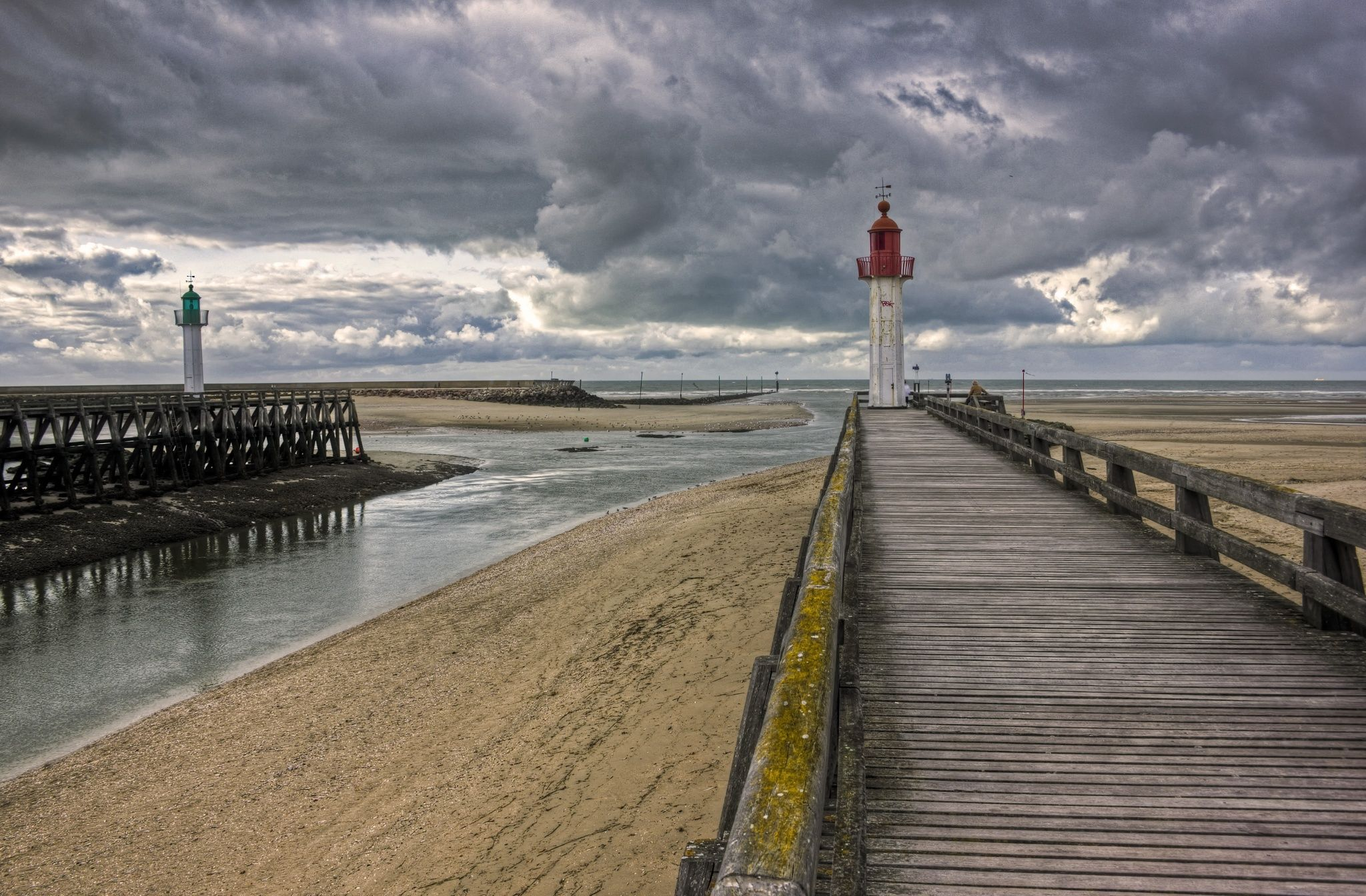 HDR of the Lighthouses on Trouville's beach