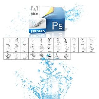 Brushes for Photoshop: Download water brush