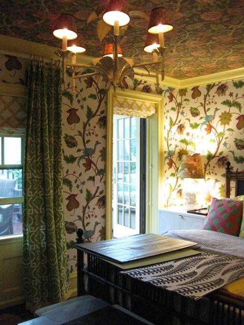bunte Decke mit Blumen im Schlafzimmer Haus Wände Pinterest