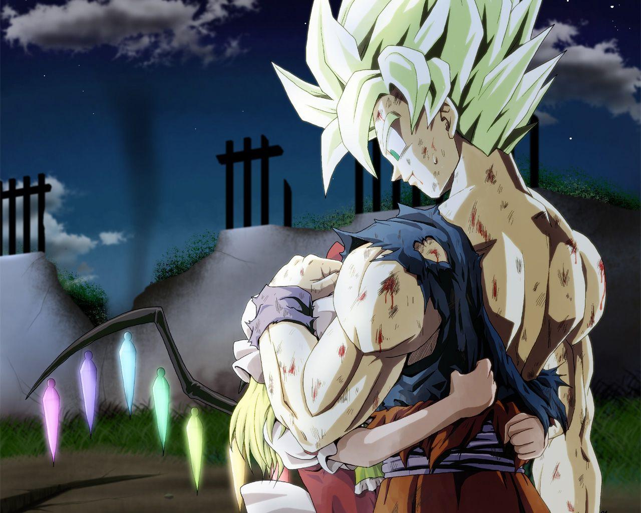 flan hugging goku anime dragon ball goku dragon ball super goku dragon ball artwork