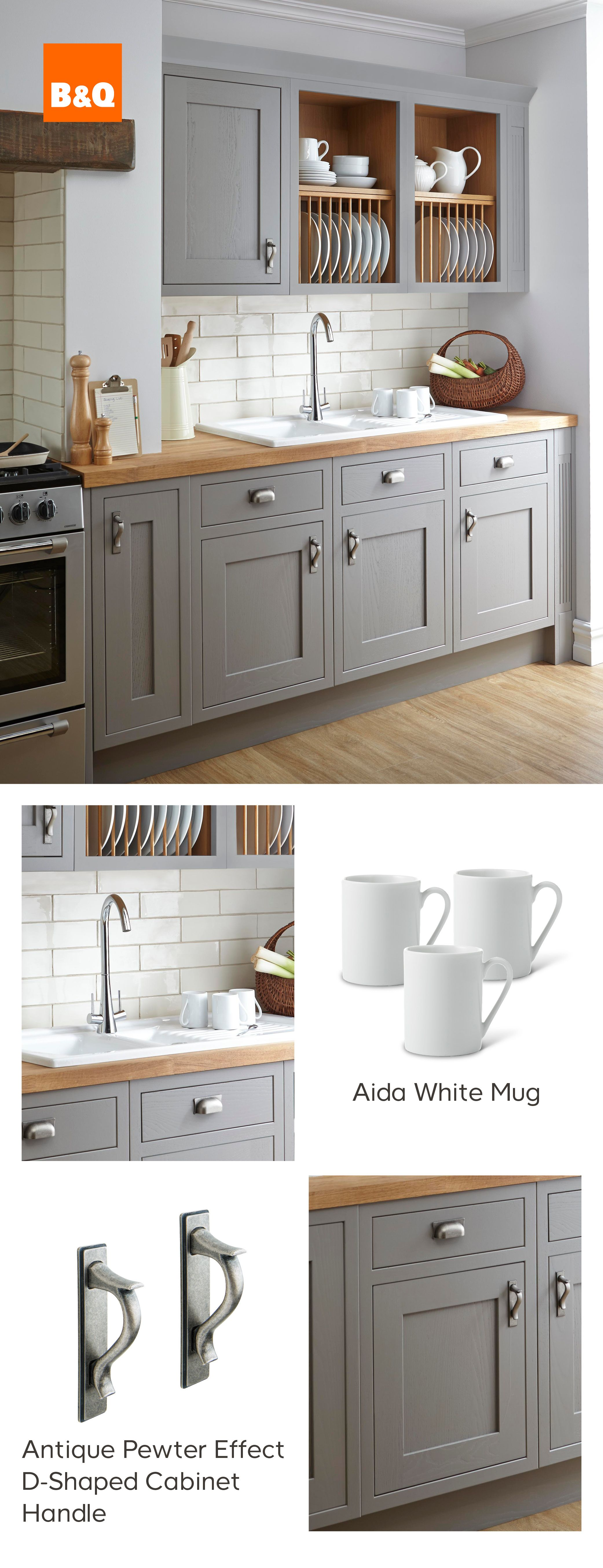 Why Wouldn T You Want To Tackle The Washing Up In This Beautiful Carisbrooke Taupe Framed Kitchen Just Flip The Tap Home Kitchens Kitchen Units Kitchen Design