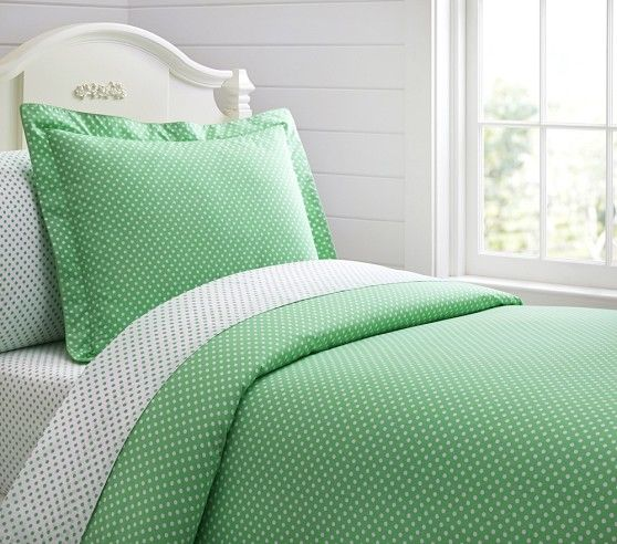 Organic Mini Dot Duvet Cover | Pottery Barn Kids